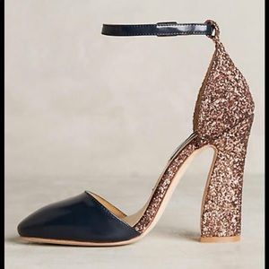 Anthropologie Vanessa Tao Glitter Heels!😍